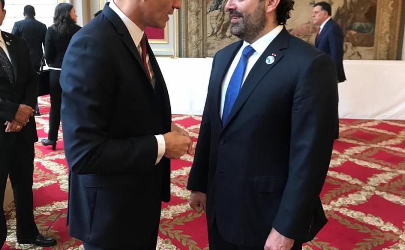 Pr Minister Saad Hariri meets Spanish Pr Minister