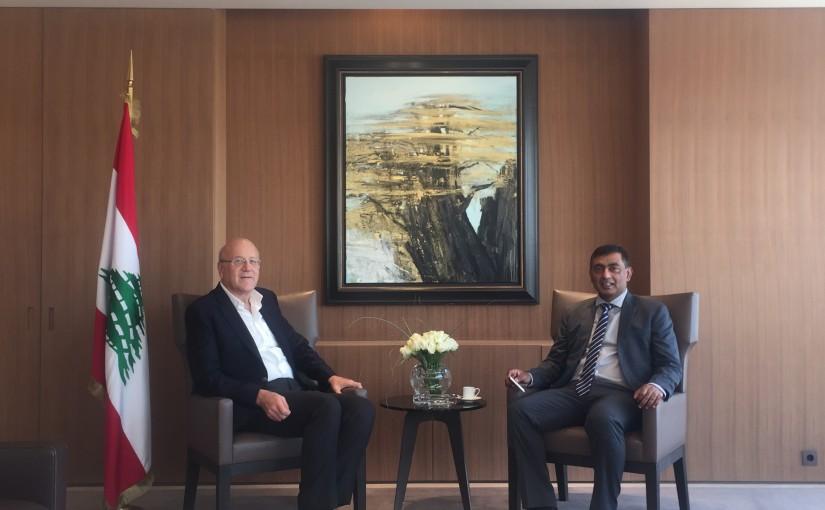 Former Pr Minister Najib Mikati meets Pakistan Ambassador