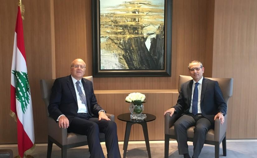 Former Pr Minister Najib Mikati meets Egyptian Ambassador