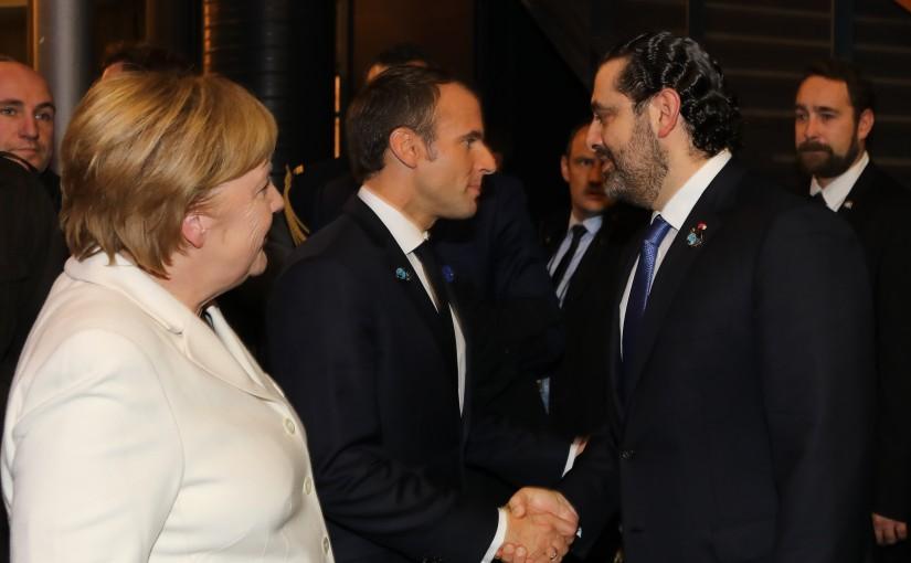 Pr Minister Saad Hariri meets President Emmanuel Macron & German chancellor Angela merkel