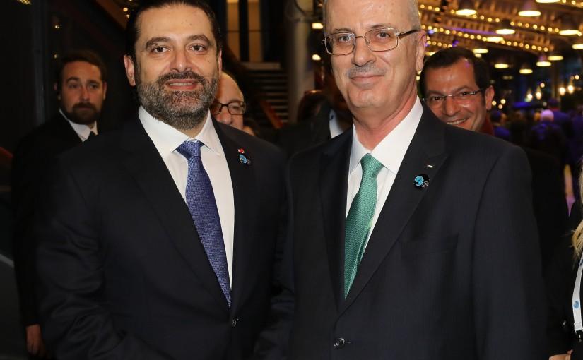 Pr Minister Saad Hariri meets Palestinian Pr Minister