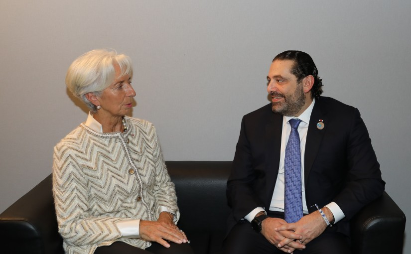 Pr Minister Saad Hariri meets Mrs Christine Lagarde