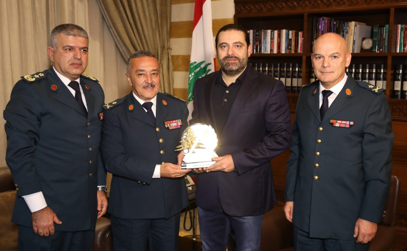 Pr Minister Saad Hariri meets a Delegation from Lebanese Army
