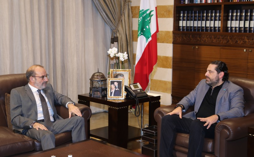 Pr Minister Saad Hariri meets Minister of Defense