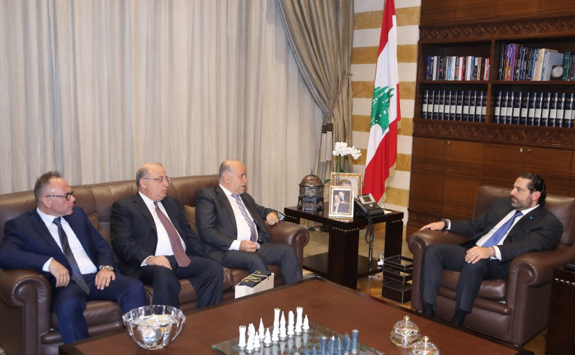 Pr Minister Saad Hariri meets Mr Kabalan Kabalan with a Delegation