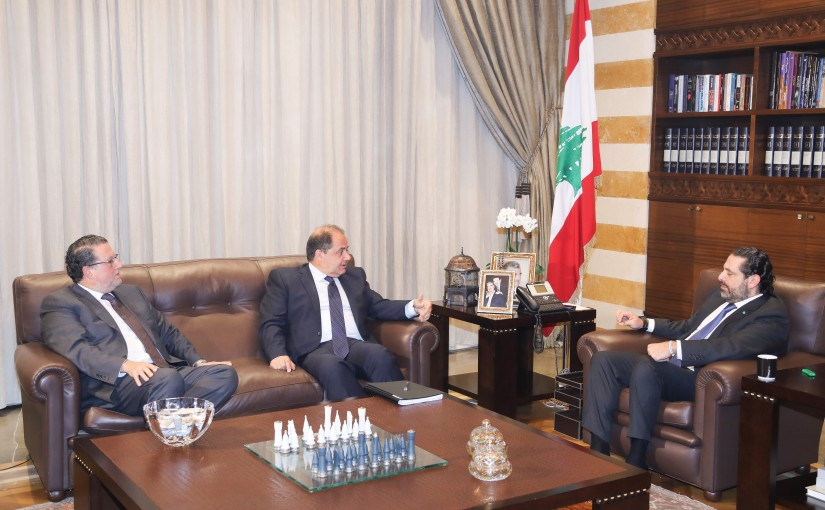 Pr Minister Saad Hariri meets Mr Mouhamad Choukair & Mr Charles Arbid