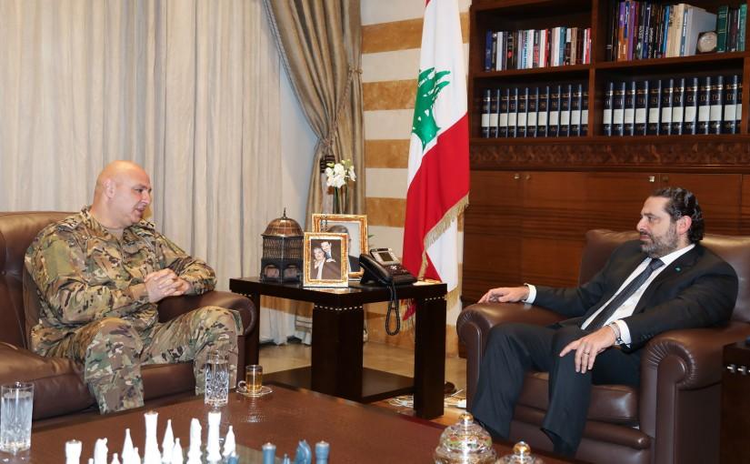 Pr Minister Saad Hariri meets Head of Army Commander General Joseph Aoun