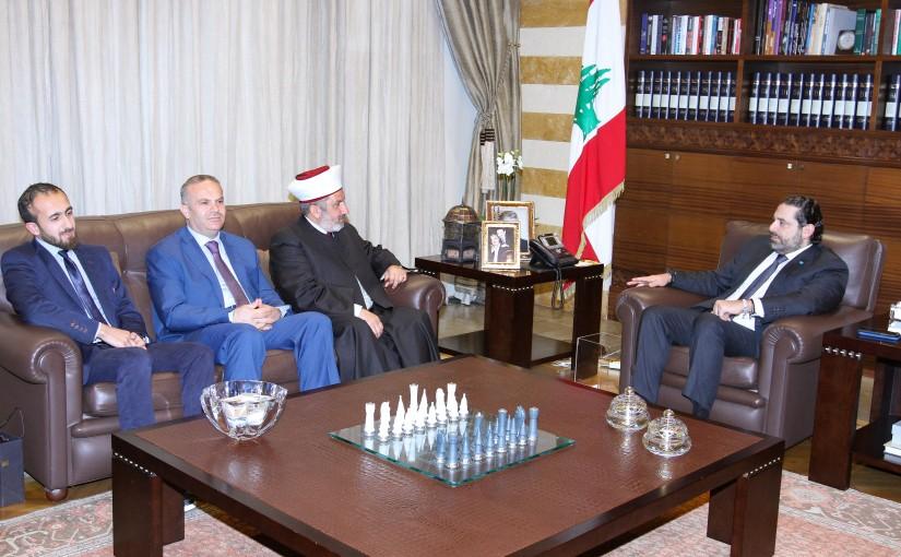 Pr Minister Saad Hariri meets Mufti Khaled el Soleh with a Delegation