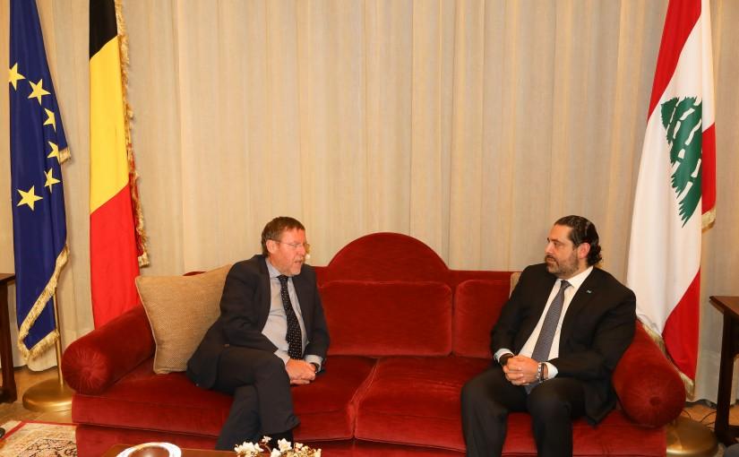 Pr Minister Saad Hariri meets Belgium House Speaker
