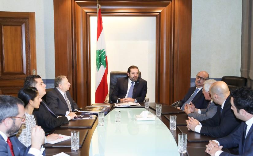 Pr Minister Saad Hariri meets Mr Jean Todd