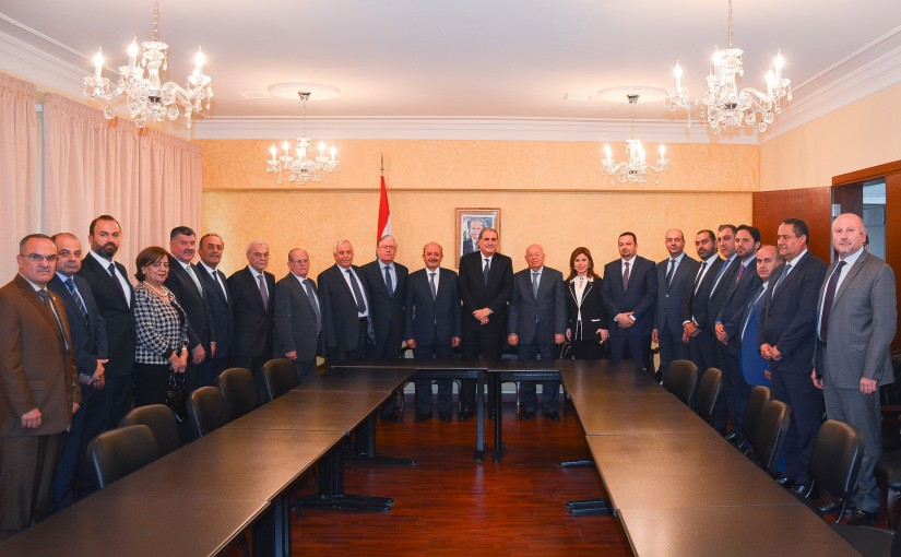 Minister Selim Jraysati meets a Delegation from North Lawyers Syndicate