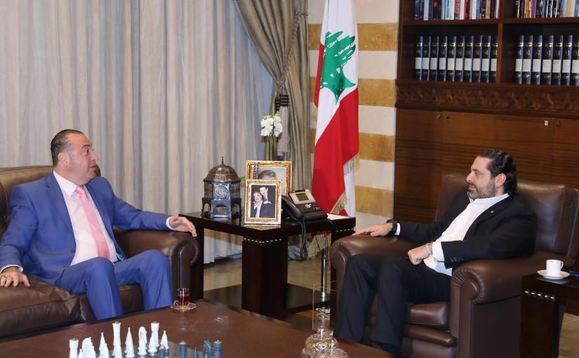 Pr Minister Saad Hariri meets Mr Nazem el Omar