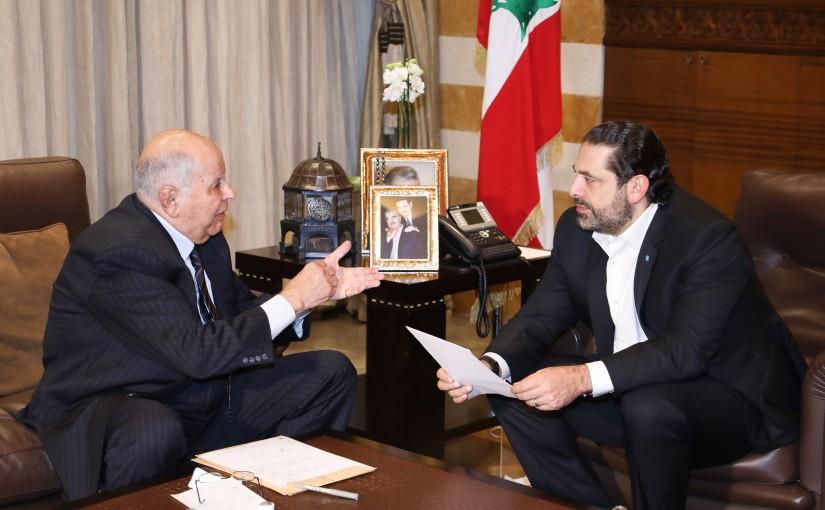Pr Minister Saad Hariri meets Mr Maarouf Bekdash