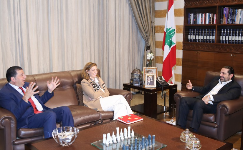 Pr Minister Saad Hariri meets MP Dina Jamali with a Delegation