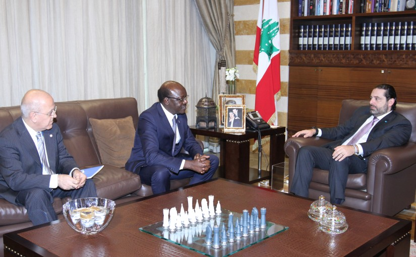 Pr Minister Saad Hariri meets Mr Mukhisa Kituyi