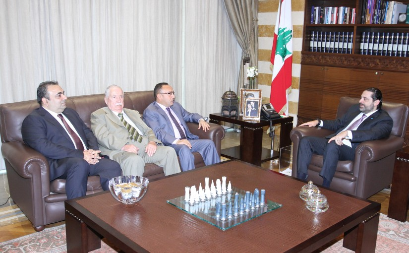 Pr Minister Saad Hariri meets Mr Fadi Tamim with a Delegation