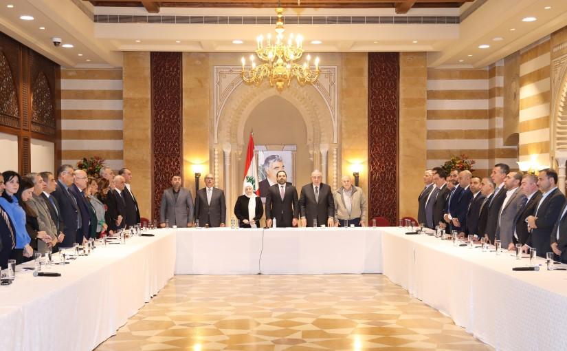 Pr Minister Saad Hariri meets MP Bahiya Hariri & a Delegation from Almustaqbal Party