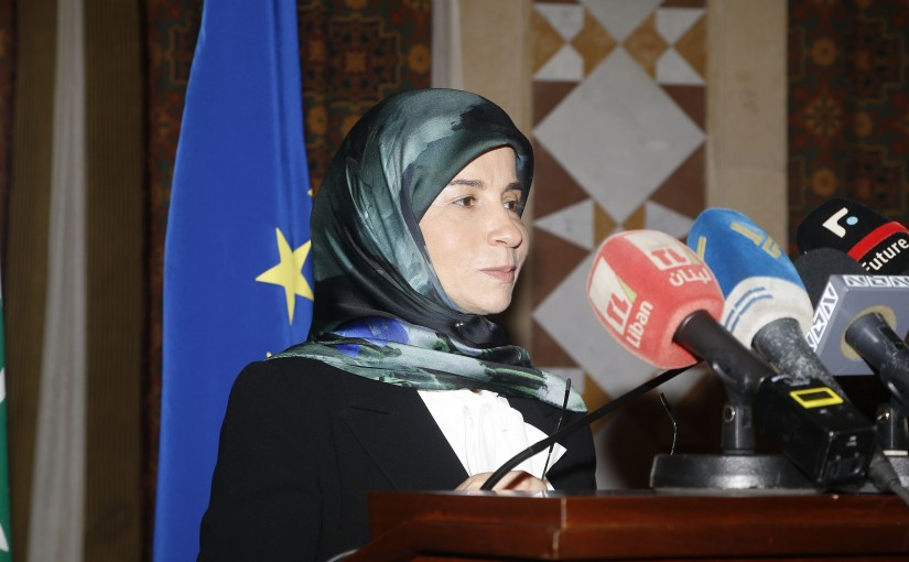Press Conference for Minister Inaya Ezzedine at the Grand Serail