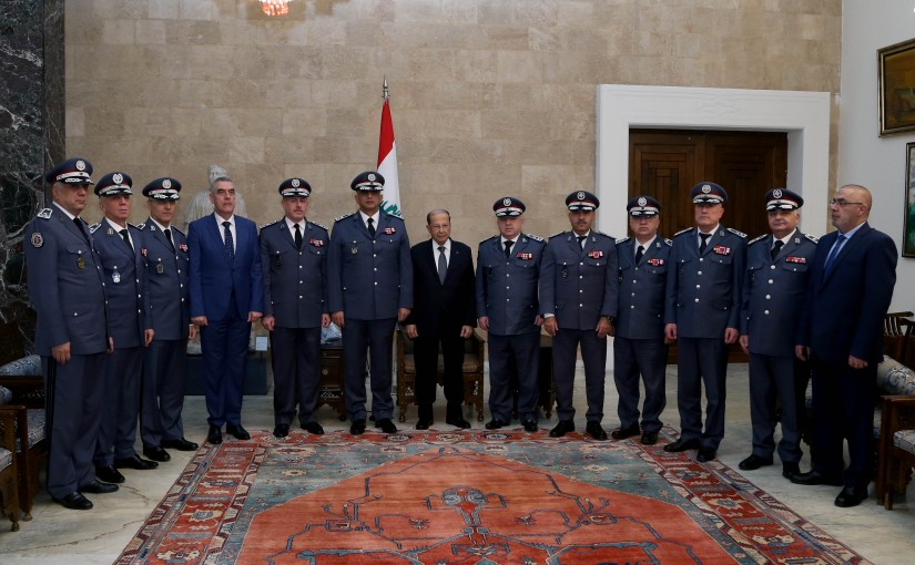 President Michel Aoun meets Delegation of Internal Security Forces to congratulate the holidays.