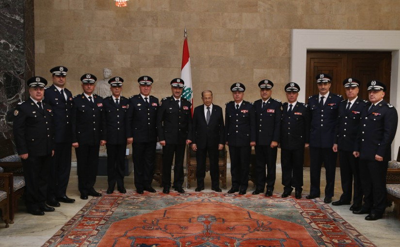 President Michel Aoun meets Delegation of States Security Forces to congratulate the holidays.