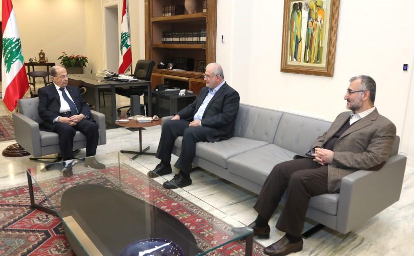 President Michel Aoun meets MP Mohammad Raad .
