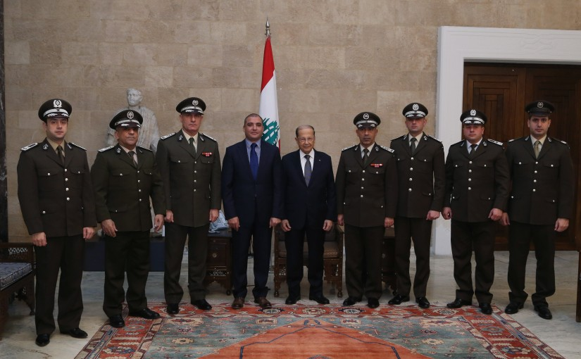 President Michel Aoun meets Delegation of Customs to congratulate the holidays.