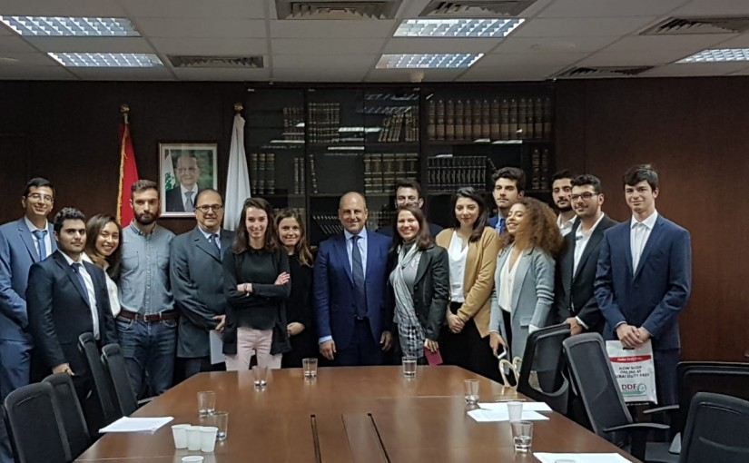 Minister Pierre abi assi meets a Delegation from USJ Students