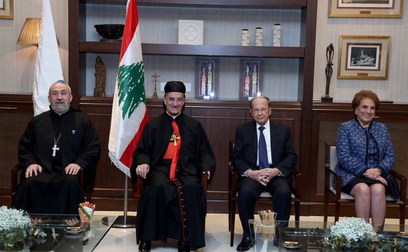 President Michel Aoun at Antonine University