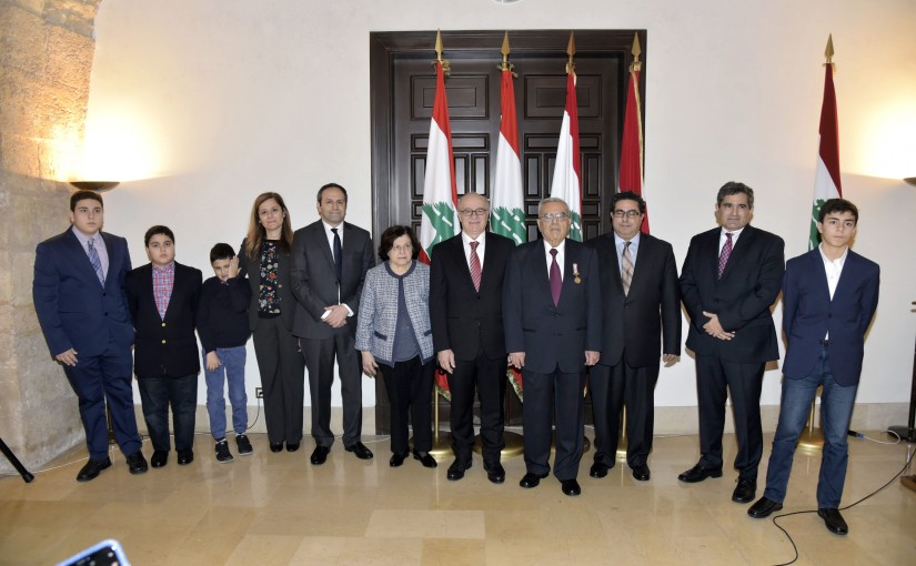 Minister Ghattas Khoury Honors Mr Nouhad Dagher
