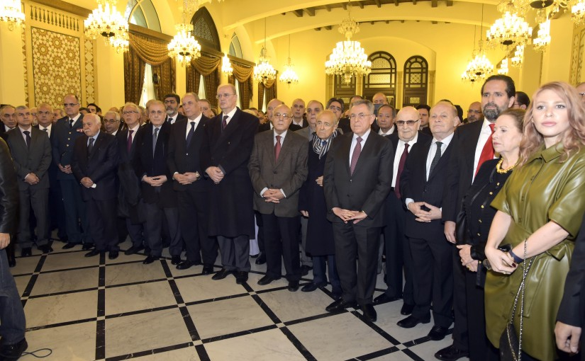 Former Pr Minister Fouad Siniora Honors the Late Sami Soleh