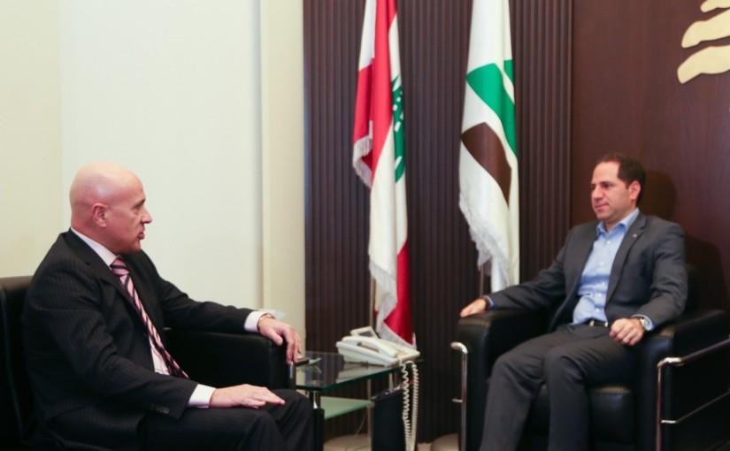 MP Sami Gemayel Meets Argentina Ambassador