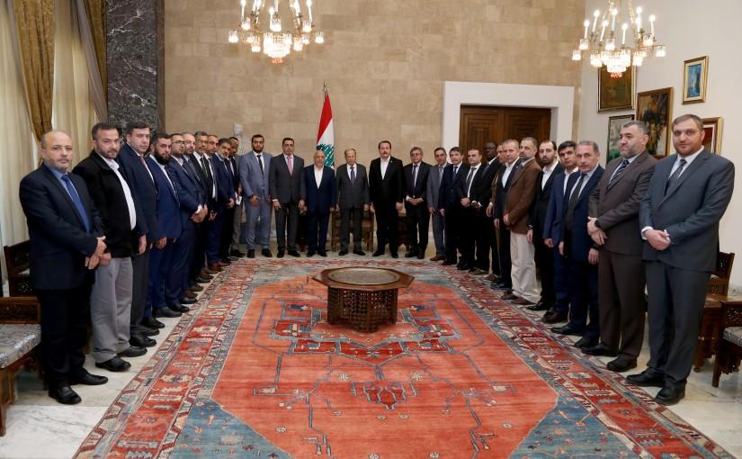 President Michel Aoun meets Mr. Mahmut  Arslan with a delegation.
