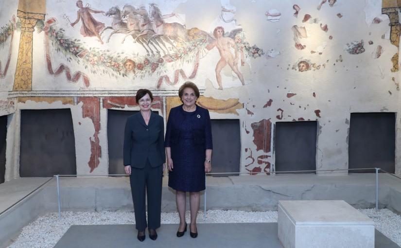 The First Lady Mrs. Nadia Aoun & Austrian first lady Mrs. Doris Schmidauer visit to the National Museum.