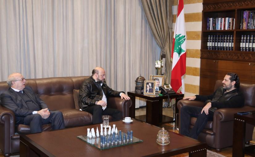 Pr Minister Saad Hariri meets Minister Melhem Riachi & Former Minister Ghattas Khoury