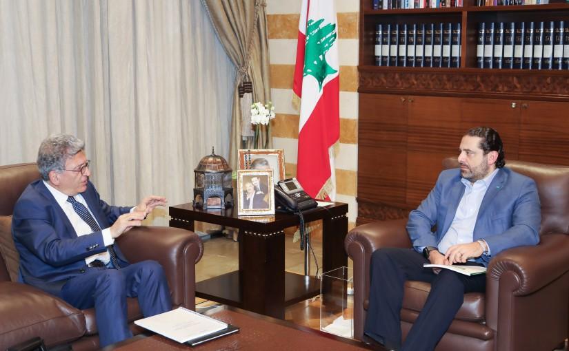 Pr Minister Saad Hariri meets Mr Najib Saab