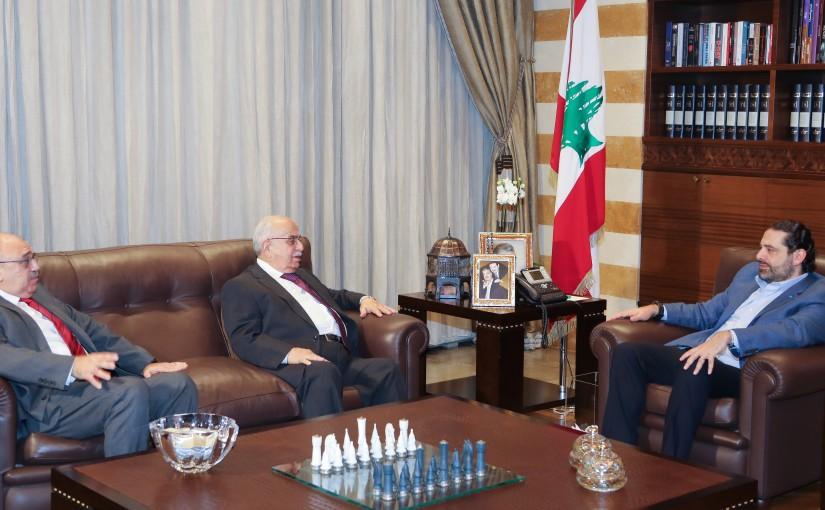 Pr Minister Saad Hariri meets Mr Ahmad Naji Fares
