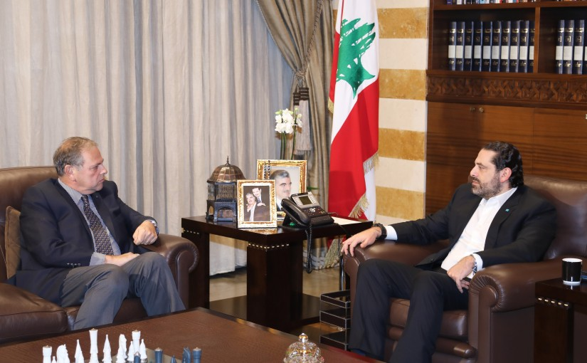 Pr Minister Saad Hariri meets Former Minister Nabil de Freij