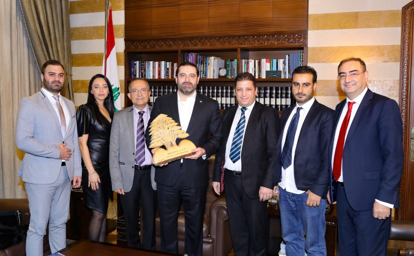 Pr Minister Saad Hariri meets a Delegation from Lebanese Associations