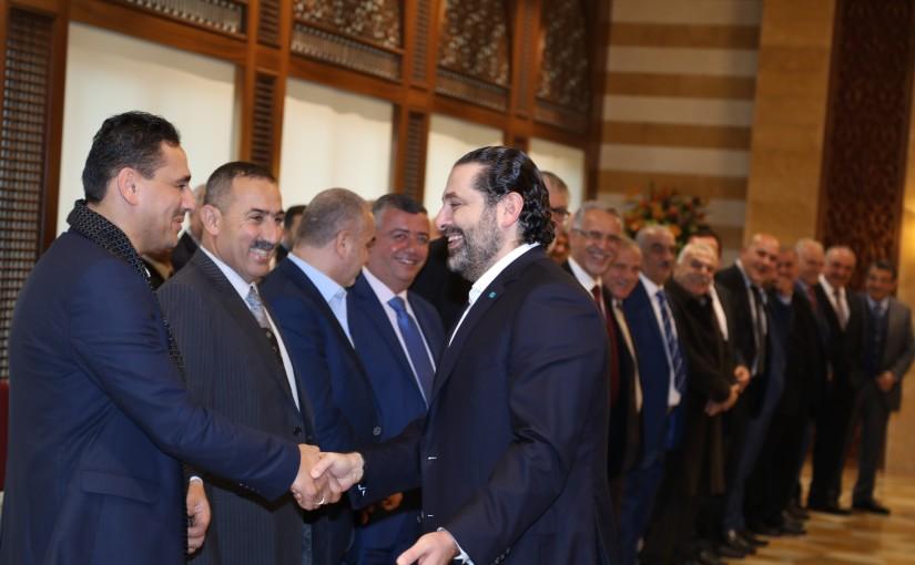 Pr Minister Saad Hariri meets a Delegation from Eklim el Kharoub