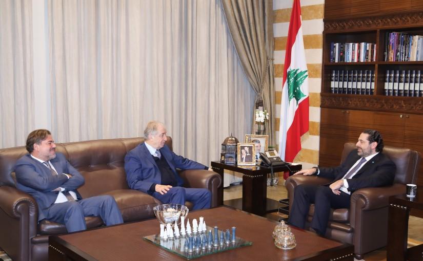 Pr Minister Saad Hariri meets Mr Yehia Shamass