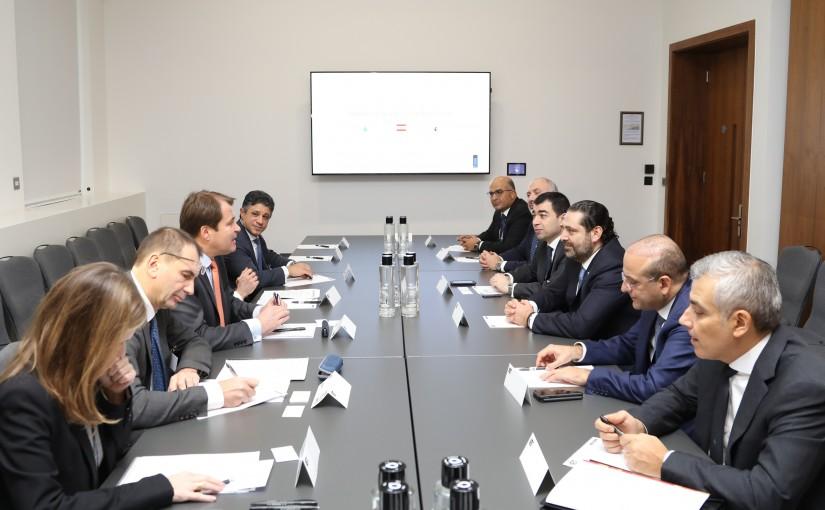 Pr Minister Saad Hariri meets Mr Alain Pilloux