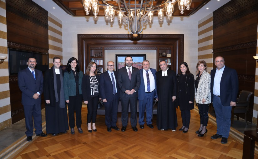 Pr Minister Saad Hariri meets with a Delegation from Frere Jemayzeh