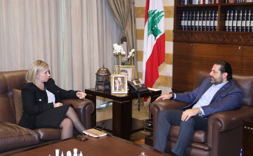 Pr Minister Saad Hariri meets MP Roula Tabesh