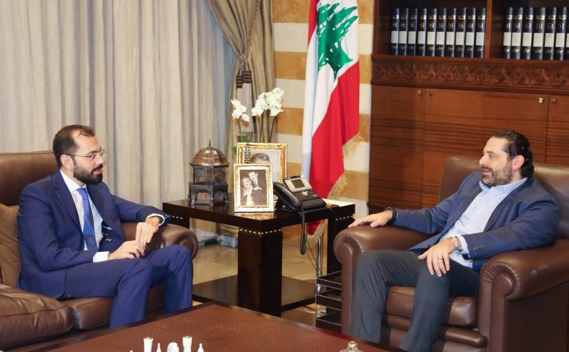 Pr Minister Saad Hariri meets Mr Ahmad Kheir