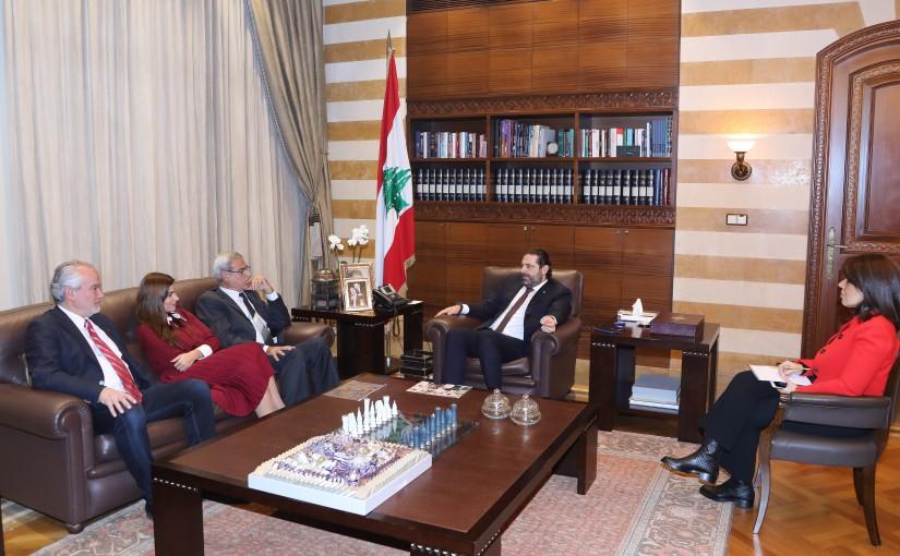 Pr Minister Saad Hariri meets Dr Ghassan Dbiabo