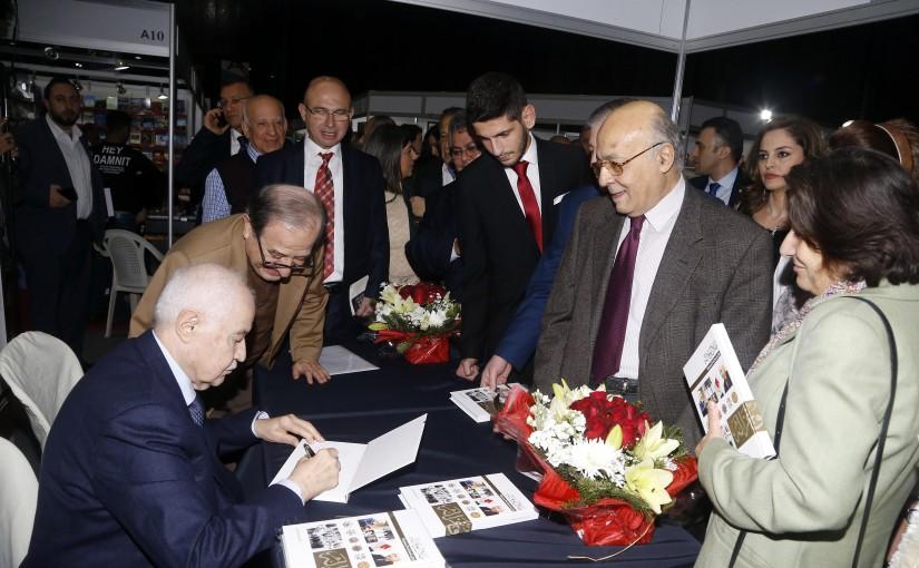 Signing Agreements for Mr Tallal abou Ghazali at Arab bouk Fair