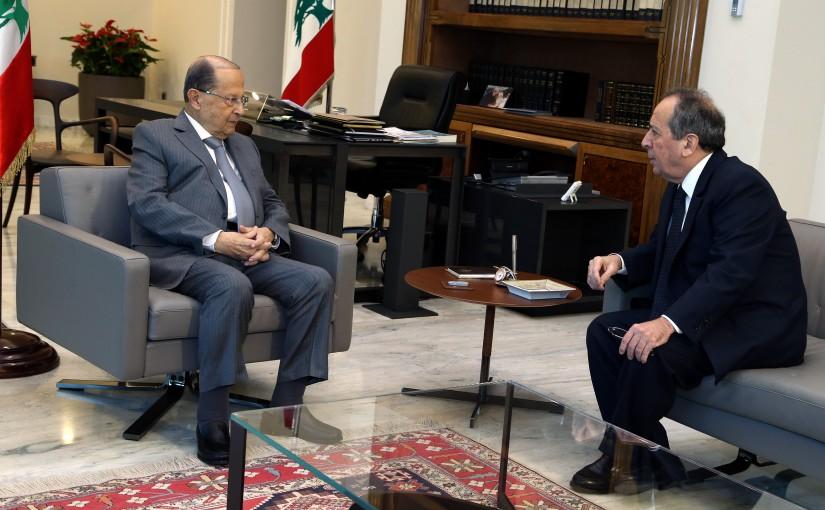 President Michel Aoun meets General MP Jamil Al Sayyed.