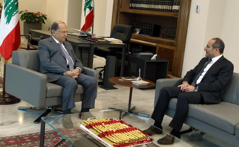 President Michel Aoun meets the Ambassador of Lebanon in Tunisia, Ambassador Tony Franjieh.