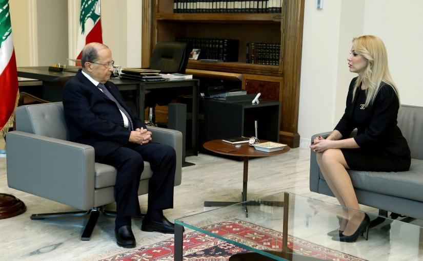 President Michel Aoun meets Dr. Darina Saliba Abi Chedid.