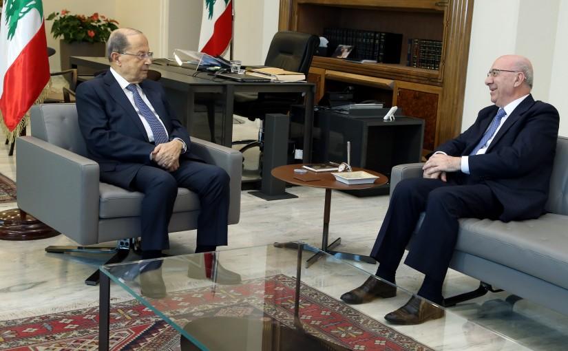 President Michel Aoun meets Former Minister Chakib Kortbawi.